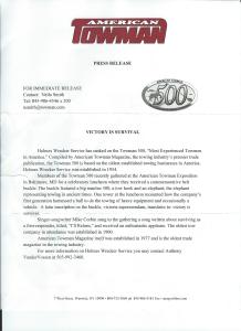 American Towman Press Release